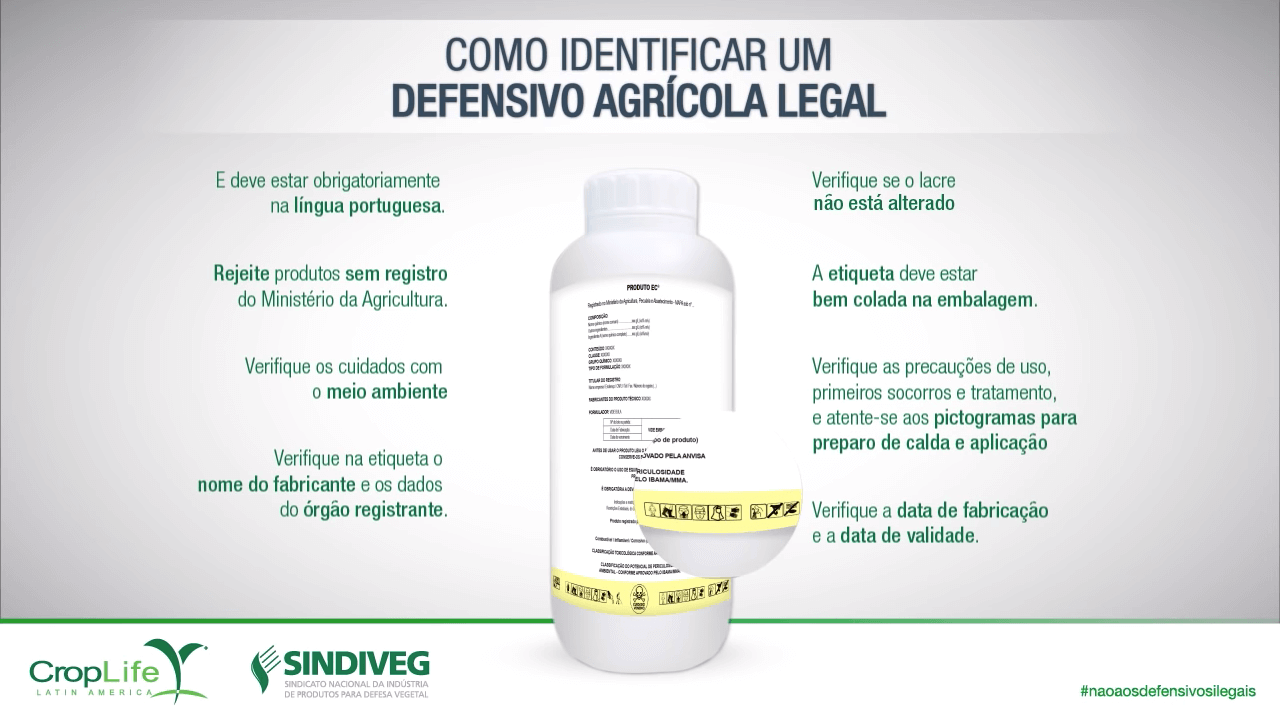 Como identificar um defensivo agricola legal